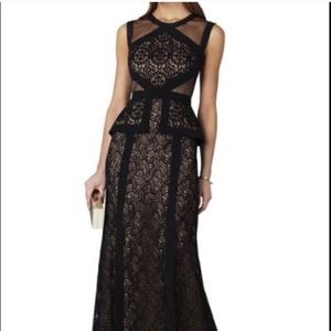 BCBG Viviana Peplum Gown Black #4